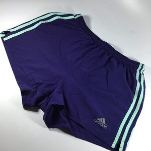 Women's Adidas blue running shorts size medium